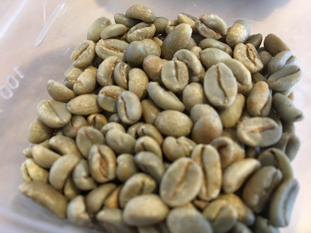 エチオピア産のコーヒー生豆